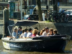 Amsterdam Canal Cruise Open Life Boat or Sloop