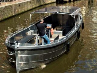 Günstigste grosse Schaluppe Grachtenfahrt Amsterdam